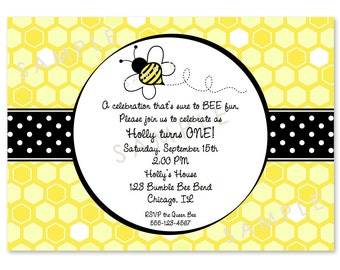 Bumble Bee Birthday Invitations (24)