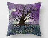 Decorative Pillow Cover - Tree of Life Painting - Throw Pillow Cushion - Fine Art Home Decor