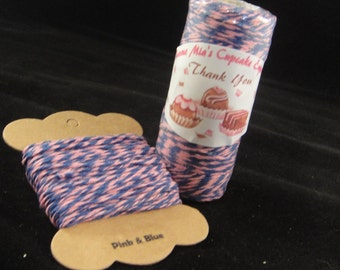 Pink and Blue Bakers Twine - 8 ply, 100% cotton Bakers Twine