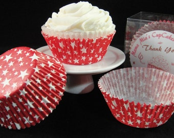Red Star Cupcake Liners