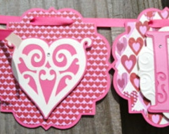 Pink Love Heart Banner