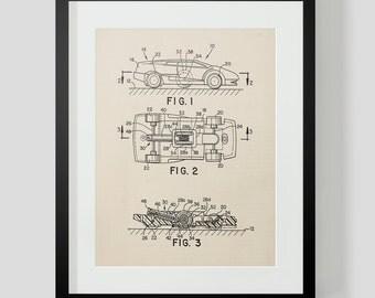 Vintage Toy Car Blueprint 1