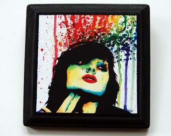 5x5 in Art Block Plaque - Ready to Hang Art Print Mounted on Wood - Don't Drink Poison