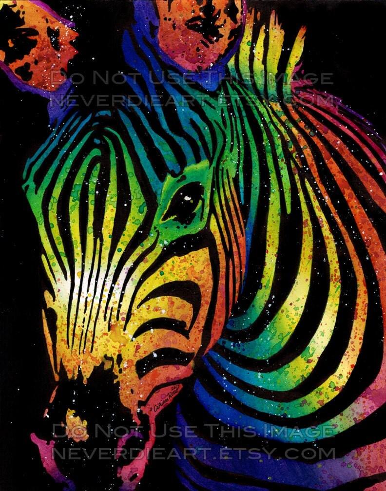zebra psychedelia wall art - photo #7