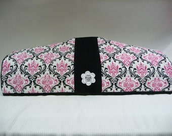 Fancy Damask and Black  - Cricut Dust Cover - Cricut Cozy - E2 Dust Cover - E2 Cozy - Expression 2 Cozy - Expression 2 Dust Cover