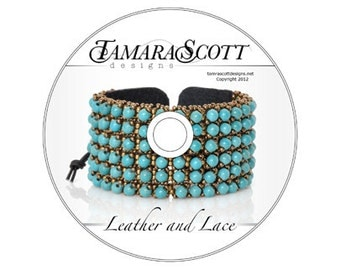 Designs-DVD Bead Pattern-Leather and Lace-Includes Disc and Printed Copy of the Pattern