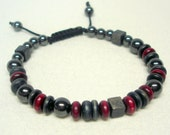 Mens Beaded Adjustable Cord Bracelet