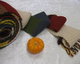 Ready to Ship - HALF-sized scarf Tom Baker Who-vian