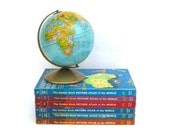 Vintage Golden Book Picture Atlas, Maps and Cultures, Set of 6, Children's Library