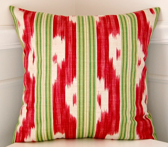 Southwestern Throw Pillow Covers : Southwestern Pillow Cover Pink Raspberry and Green Throw