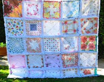 Handkerchief Vintage Hanky Rag Quilt Made to Order for You