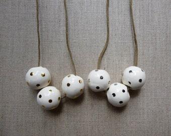 Lustre Dot Ring Necklace