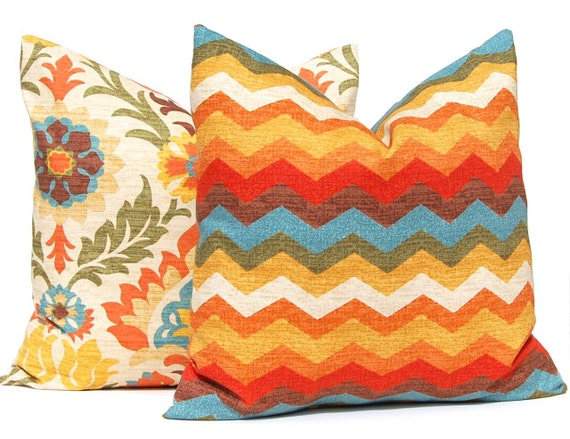 Fall Pillow Covers Decorative Throw Pillow Covers Pair of