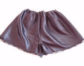 1940,1950s Style,Vintage,Handmade Satin French Knickers with Lace Detail