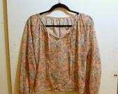 M Vintage 70s Sheer Floral Shirt