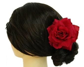 Rose Flower Hair Claw Bridal Wedding