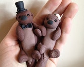 Sea Otters custom wedding cake topper