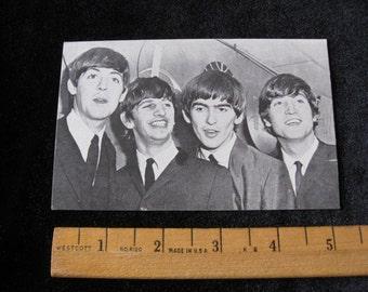 "Original   Sixties Beatles Arcade Card 3 3/8"" x 5 3/8"" John Paul George and Ringo 1ST TOUR Photo"