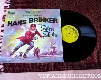 1963 Walt Disney Hans Brinker and The Silver Skates Vintage Vinyl lp Disneyland Records NM-
