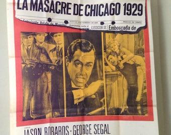 Original Spanish Poster for Chicago St. Valentines Day Massacre Film
