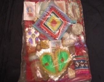 Vintage 1980's Oracion  Curanderismo Handcrafted  Luck Amulet