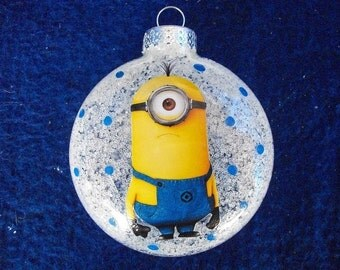 Single Ornaments - One-Eyed Minion Inspired