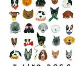 I Like Dogs 12X12 Print