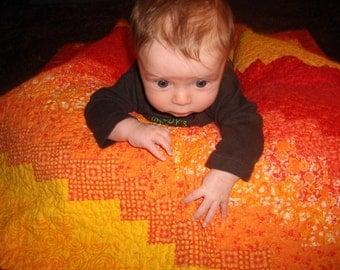 Orange Baby Quilt