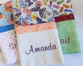 Personalized Pillowcase Embroidered Name Custom Fabric Birthday Gift Bridal Shower Gift Personalized Gift Handmade Gift for Family