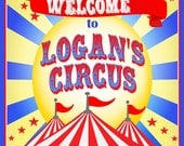 Circus Party Carnival Party Welcome Door Sign - Brights Collection -Gwynn Wasson Designs PRINTABLES