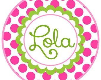 Happy Polka Dot Spring Iron on applique