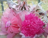 Handmade Origami Bouquet With Pink Highlights
