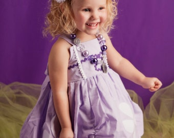 Girls Sofia the First Dress, Princess Party Dress inspired by Disney's Princess Sofia WITHOUT APPLIQUE available sizes 18m, 2T-8girls