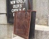 StNicholas tote, handmade leather handbag, brown leather shopper, laptop bag, handmade leather bags & totes bags by Aixa Sobin, bag maker