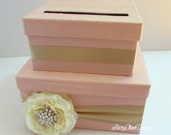 Wedding Card Box Money Holder Gift Card Boxes Reception Card Box - Custom Made