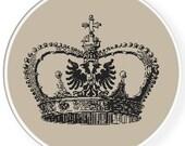 Instant download,Free shipping,Cross stitch pattern, Crossstitch PDF/JPEG,vintage crown pattern, cross stitch pillow pattern,zxxc0411