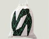Storage Drawstring Bag Large Shoes Green