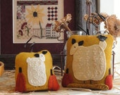 Got Sheep?? - A Pattern to Embroider Two Small Pumpkins.  Sheep are Filled In With Beautiful Embroidery Stitches!