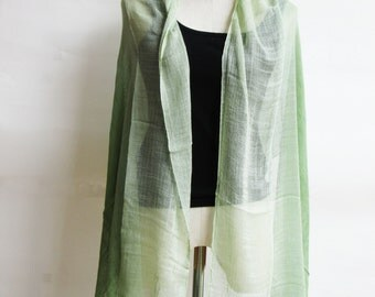 SC2, V Triple Green Cotton Scarf