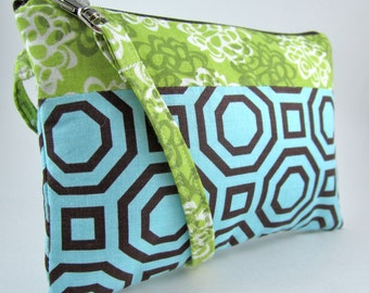 Wristlet Zipper Pouch// Wristlet Clutch// Zipper Clutch// Wristlet Wallet