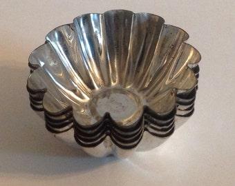 Set of Five Mini Metal Vintage Mold Cups