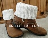 PDF Pattern Knit Boot Cuff, Leg Warmers for teens or adults