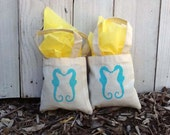 "30 Custom 6""x6"" Mini Tote Party Favor Grab Bags - Eco-Friendly Natural Cotton Canvas"