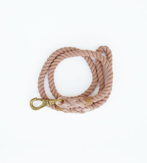 SALE, Rope Dog Leash: Large, Salmon