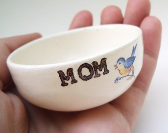 PERSONALIZED MOM GIFT blue bird ring dish wedding gift engagement wedding ring pillow date monogram name birthday gift for mom