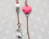 Pink Shell and Copper Necklace