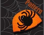 INSTANT DOWNLOAD Spider Halloween Crochet Hat Pattern