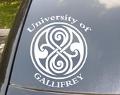 University of Gallifrey Car Sticker