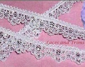 Silver Lace Trim 12/24 Yards Scalloped 1/2 inch wide Lot B05 Added Items Ship No Charge