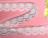 White Lace Trim 12 Yards Vintage Scalloped 3/4 inch wide Lot R16 Added Items Ship No Charge